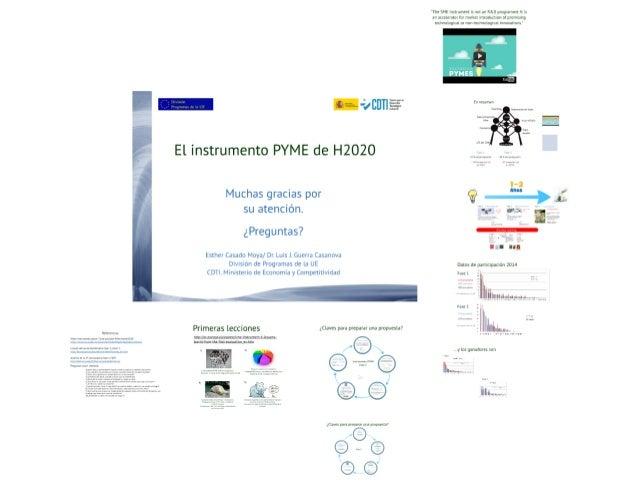 Taller de preparacion de propuestas de Instrumento PYME de H2020