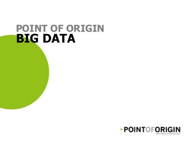 POINT OF ORIGIN BIG DATA