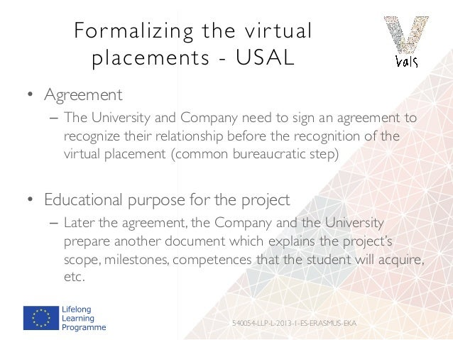 Evaluation and observations of virtual placements already star ted &Virtual placements evaluation