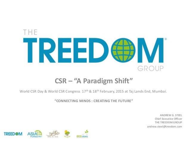 "CSR – ""A Paradigm Shift"" World CSR Day & World CSR Congress 17th & 18th February, 2015 at Taj Lands End, Mumbai. ""CONNECTI..."