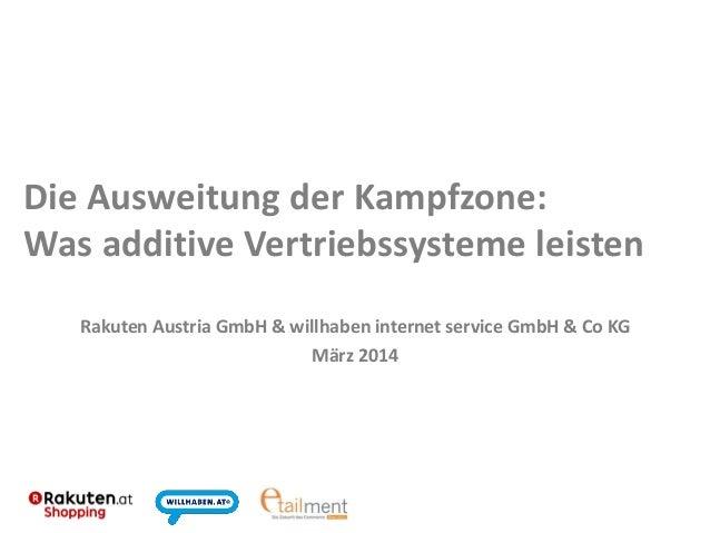 Die Ausweitung der Kampfzone: Was additive Vertriebssysteme leisten Rakuten Austria GmbH & willhaben internet service GmbH...