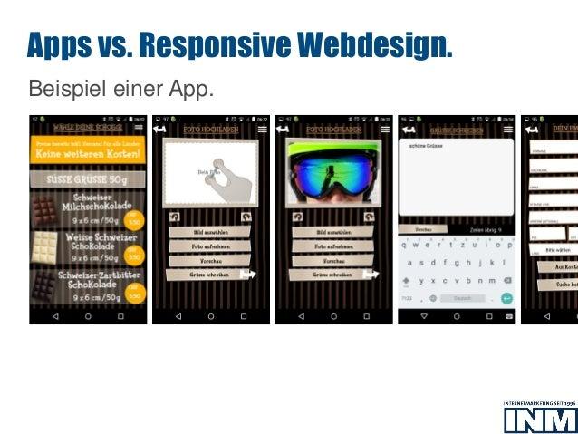 SEO Beispiel einer App. Apps vs. Responsive Webdesign.