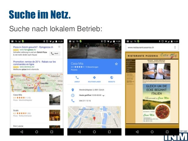SEO Suche nach lokalem Betrieb: Suche im Netz.