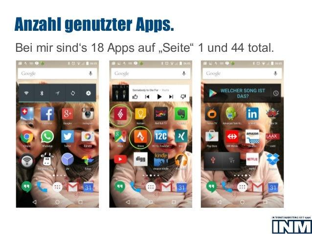 """SEO Bei mir sind's 18 Apps auf """"Seite"""" 1 und 44 total. Anzahl genutzter Apps."""