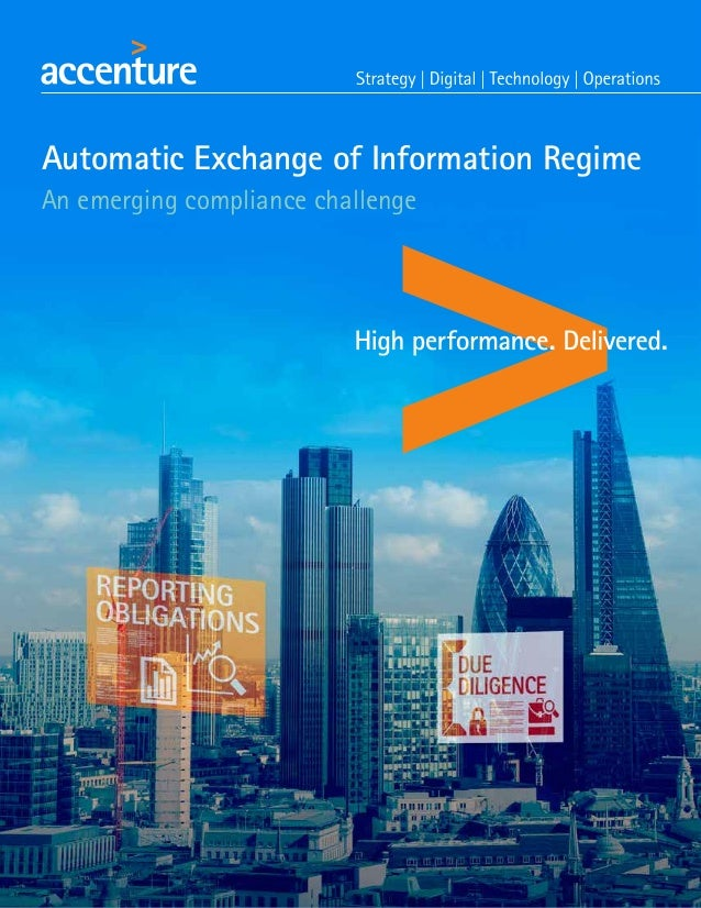Automatic Exchange of Information Regime An emerging compliance challenge