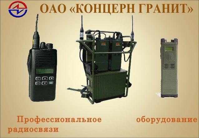 Профессиональное оборудование радиосвязи .