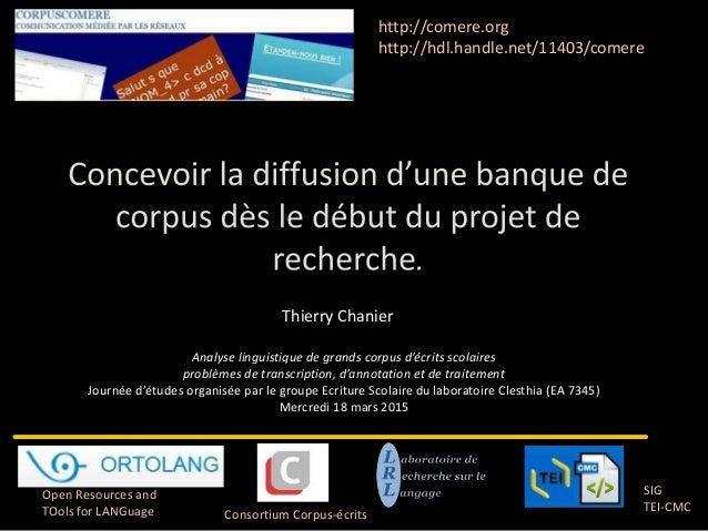 Analyse linguistique de grands corpus d'écrits scolaires problèmes de transcription, d'annotation et de traitement Journée...