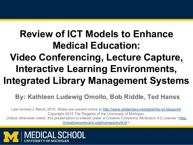 Review of ict models to enhance medical education video conferencing review of ict models to enhance medical education video conferencing lecture capture malvernweather Image collections