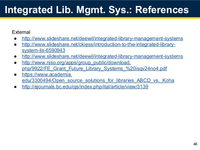 integrated library systems Frequently asked questions do i need to attend training to run reports how long does the integrated library system (ils) keep data that can be used for reports.