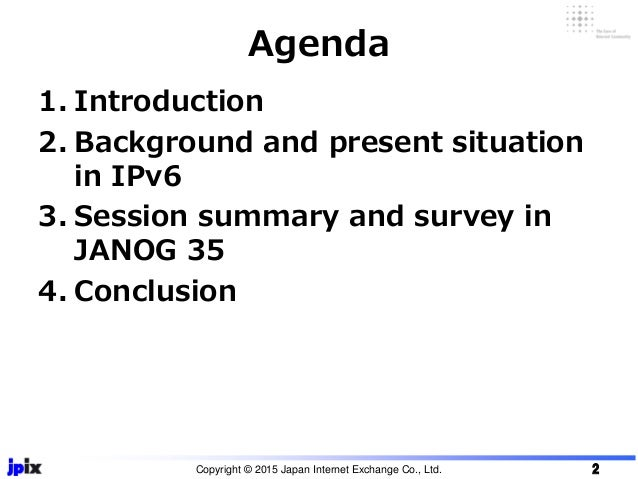 IPv6 session and survey report from IPv6 + content