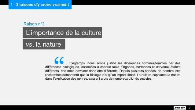 """""""Longtemps, nous avons justifié les différences hommes/femmes par des différences biologiques, associées à chaque sexe. Or..."""