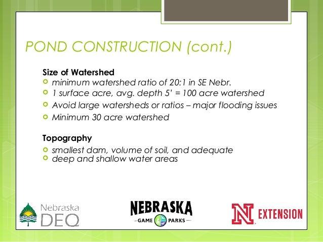20150312 lake pond management nnts for Minimum depth for koi pond