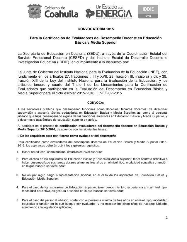 20150316 convocatoria docentes for Convocatoria para docentes