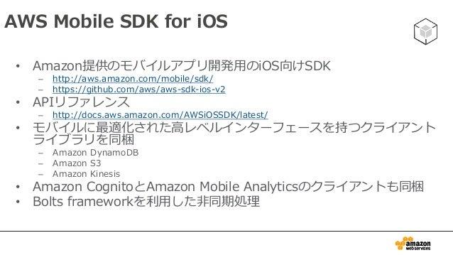 インストール • CocoaPodsを利用してインストールする – http://cocoapods.org/ • Xcode上のプロジェクトフォルダにてpodfileを作成 • ターミナル上でプロジェクトフォルダに移動した上 で以下を実行 s...