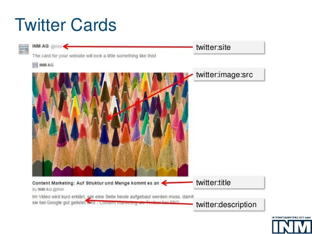 Twitter Cards twitter:image:src twitter:site twitter:title twitter:description