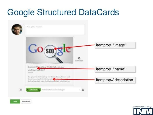 "Google Structured DataCards itemprop=""image"" itemprop=""description itemprop=""name"""