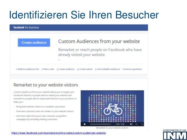 Identifizieren Sie Ihren Besucher https://www.facebook.com/business/a/online-sales/custom-audiences-website