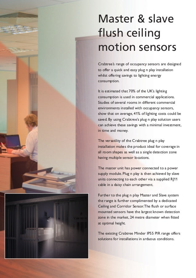 Crabtree occupancy sensors 3 master slave flush ceiling motion sensors sciox Gallery