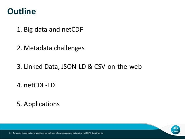 netCDF-LD - Towards linked data conventions for delivery of