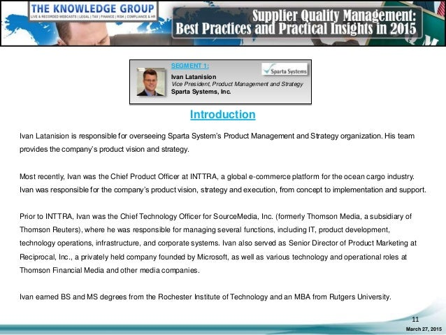 Best Practices and Training Systems