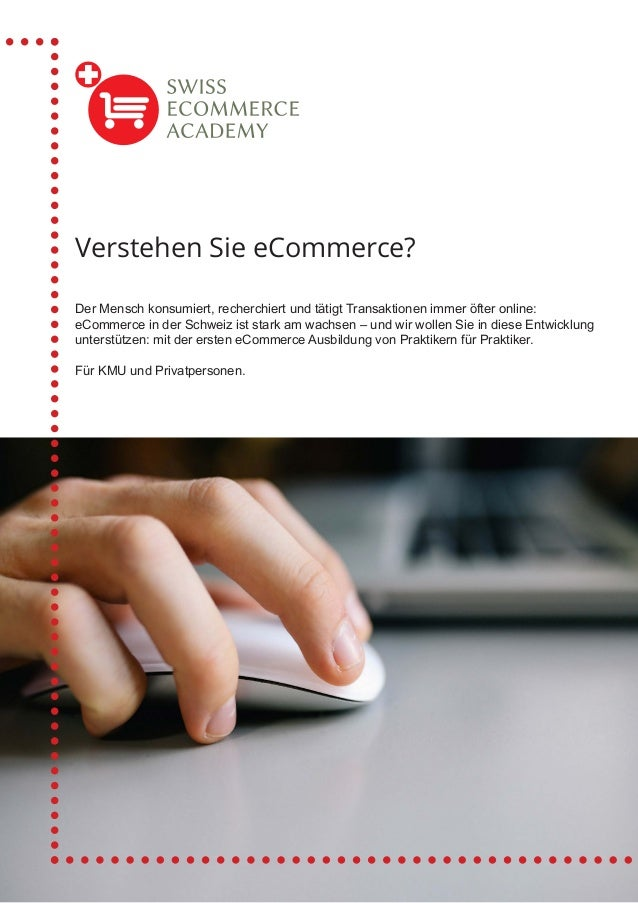 Der Mensch konsumiert, recherchiert und tätigt Transaktionen immer öfter online: eCommerce in der Schweiz ist stark am wac...