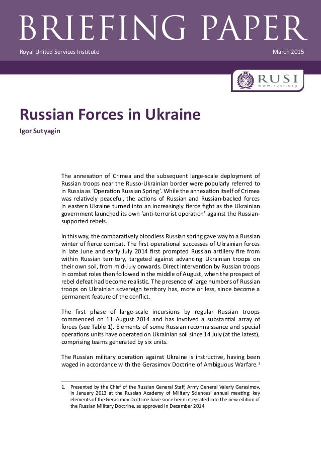 New Russian Military Doctrine On