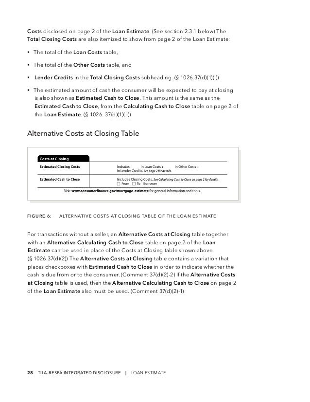 Loan Estimate Page 2 >> 201503 Cfpb Tila Respa Integrated Disclosure Guide To The