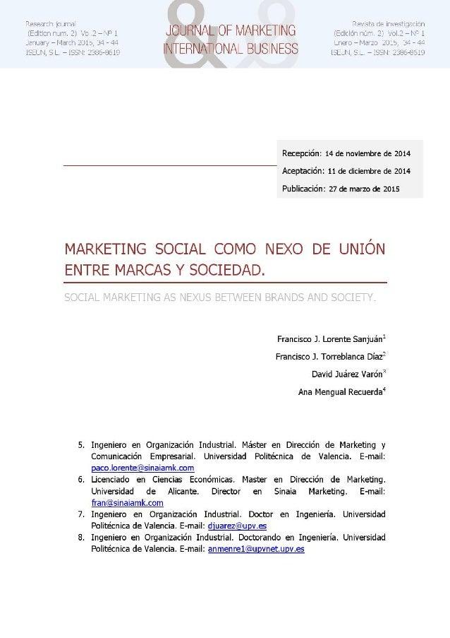 Marketing social como nexo de unión entre marcas y sociedad