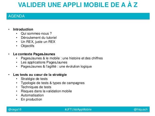 JFTL2015 - Tester une application mobile de A à Z Slide 2