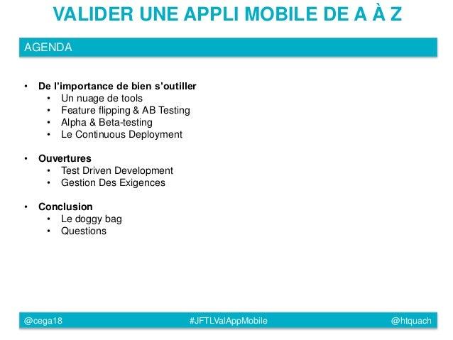 JFTL2015 - Tester une application mobile de A à Z Slide 3