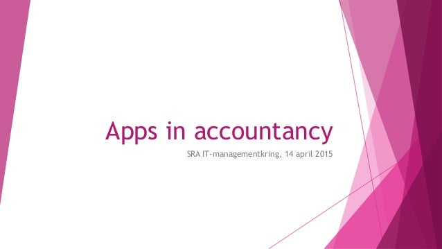 Apps in accountancy SRA IT-managementkring, 14 april 2015