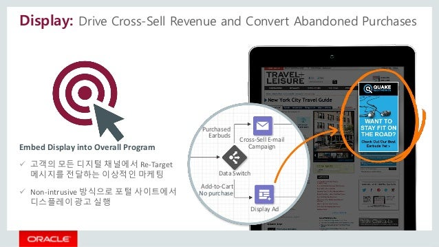 Display: Drive Cross-Sell Revenue and Convert Abandoned Purchases Cross-Sell E-mail Campaign Display Ad Data Switch Purcha...