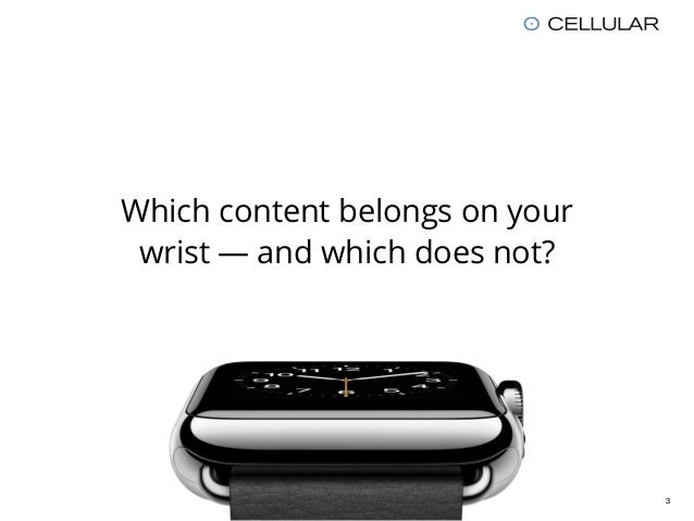 Apple Watch / Smartwatch UX: 7 Guidelines for greater Apps Slide 3
