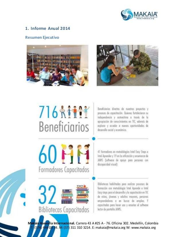 Informe anual 2014 Slide 2