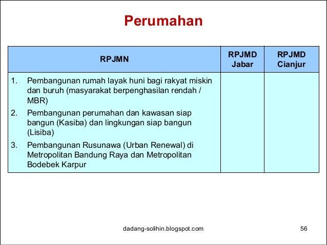 Penyelarasan RPJMD-RPJMN dalam Multilateral Meeting dadang-solihin.blogspot.com 57 • Koordinasi Perencanaan Multilateral/K...