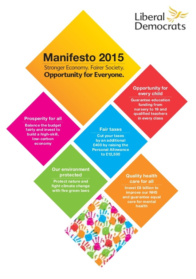 Liberal Democrats Manifesto 2015 - Opportunity for Everyone