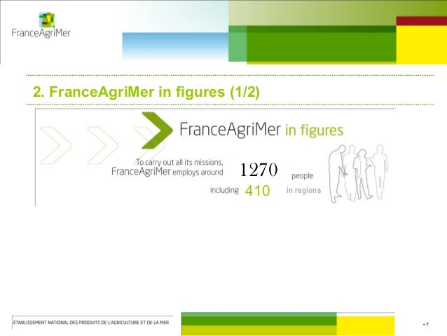 • 7 2. FranceAgriMer in figures (1/2) 1270 410 in regions