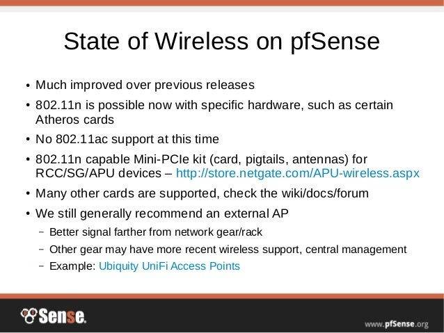 Wireless Access Points - pfSense Hangout May 2015