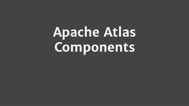 Apache Atlas Components