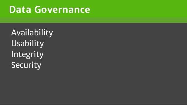 Data Governance Availability Usability Integrity Security