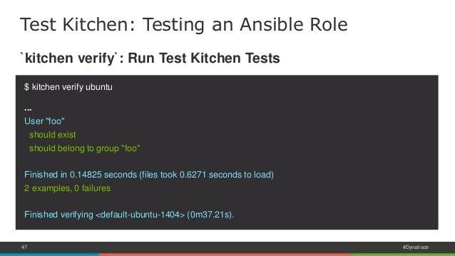 Test Kitchen Provisioner