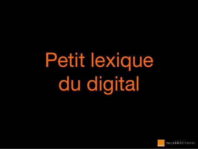 Petit lexique du digital