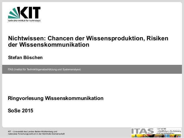 KIT – Universität des Landes Baden-Württemberg und nationales Forschungszentrum in der Helmholtz-Gemeinschaft ITAS (Instit...