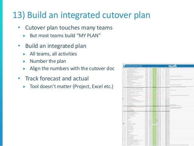 10 golden rules for s 4 hana migrations for Cutover plan template