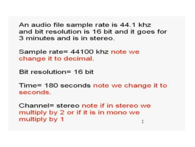 calculate audio file size