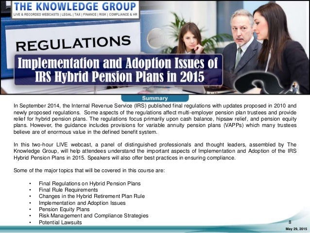 Implementation and Adoption Issues of IRS Hybrid Pension ...