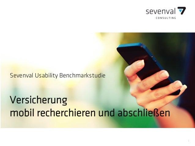 1 Sevenval Usability Benchmarkstudie Versicherung mobil recherchieren und abschließen