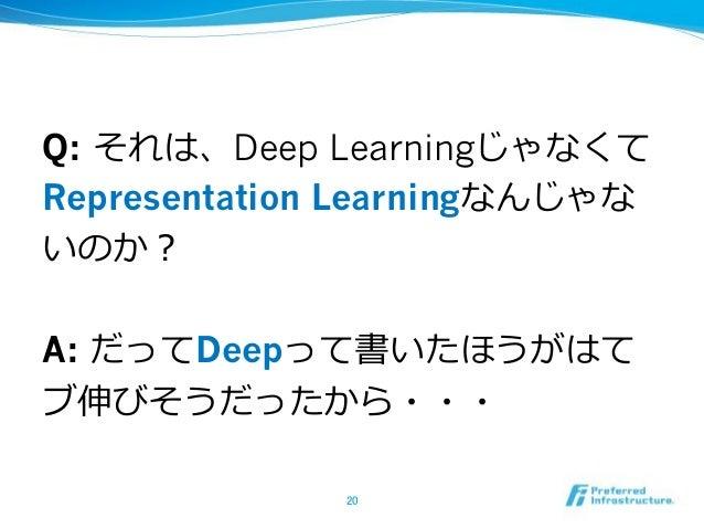 Q: Deep Learning Representation Learning -‐‑‒ A: Deep