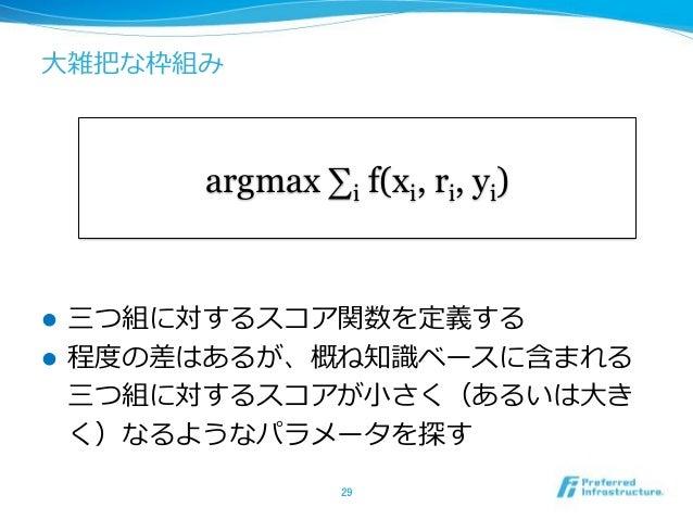 ! ! 1 argmax ∑i f(xi, ri, yi)