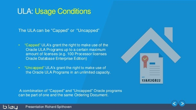 20150610 Oracle Unlimited License Agreements Not That Unlimited